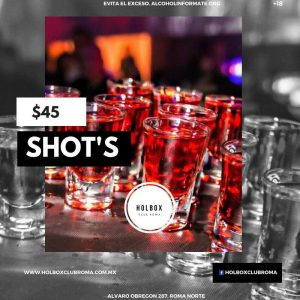 shots holbox club roma